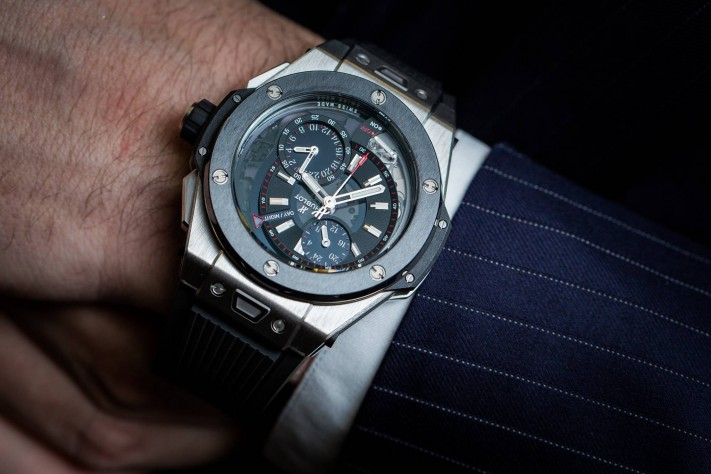 Hublot Big Bang Alarm Repeater Watch in Titanium Wrist