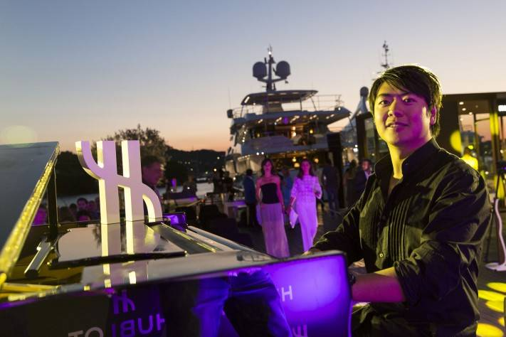 Lang Lang private concert at Harrods Deluxe Village in Porto Cervo
