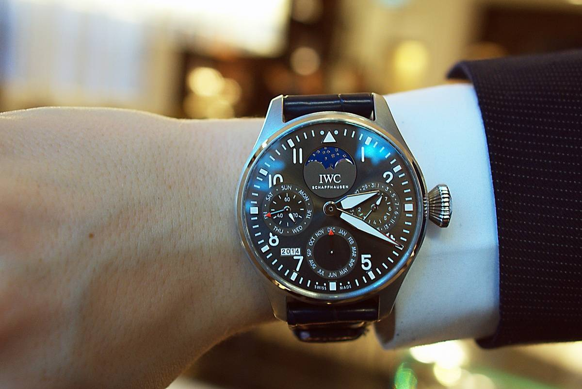 IWC Big Pilot Perpetual Calendar London boutique