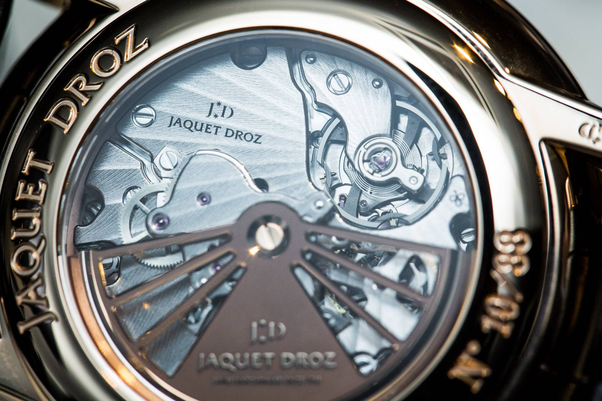 Jaquet Droz Grande Seconde Deadbeat Watch Baselworld 2015 Back Close