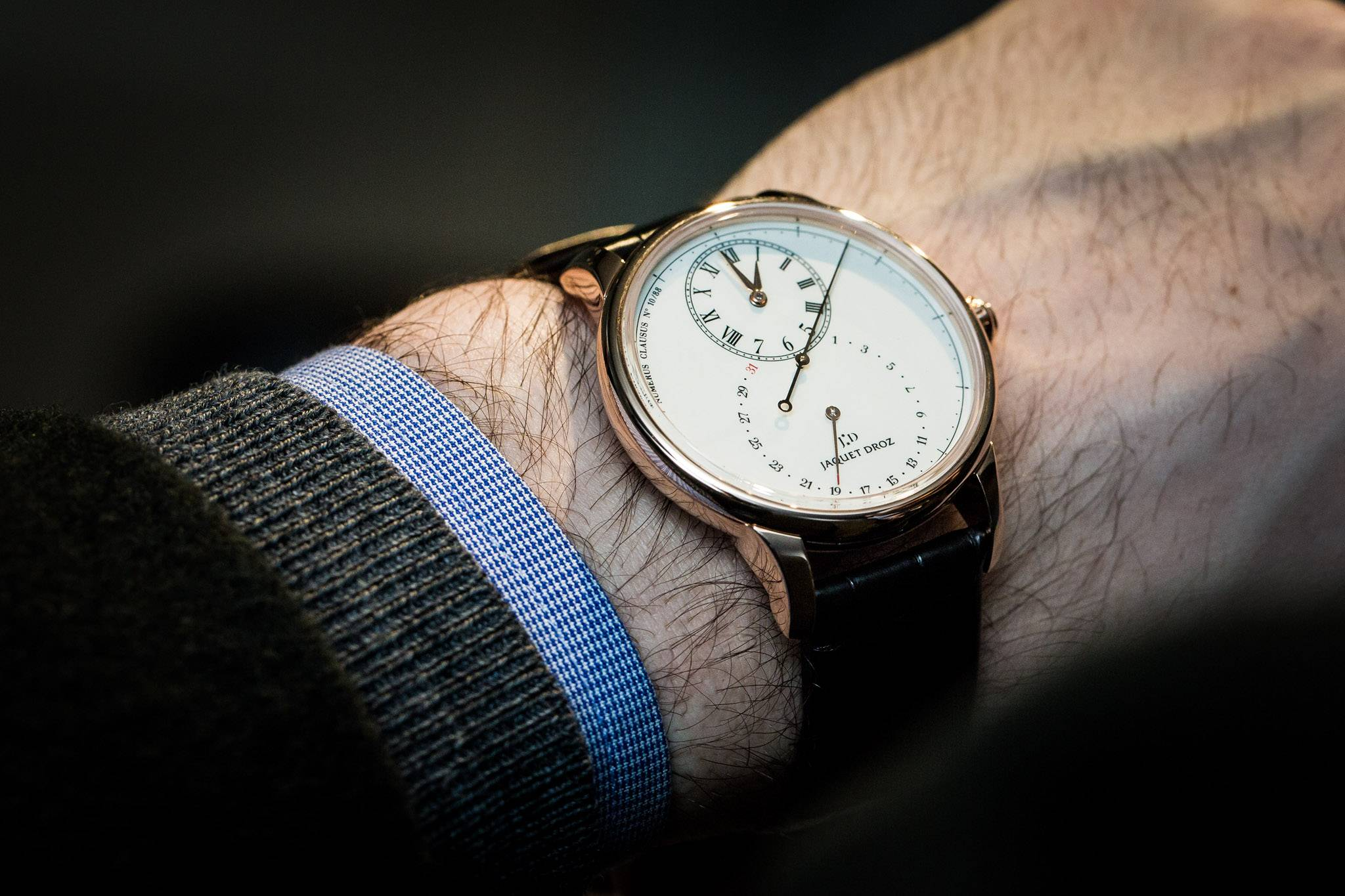 Jaquet Droz Grande Seconde Deadbeat Watch Baselworld 2015 Wrist