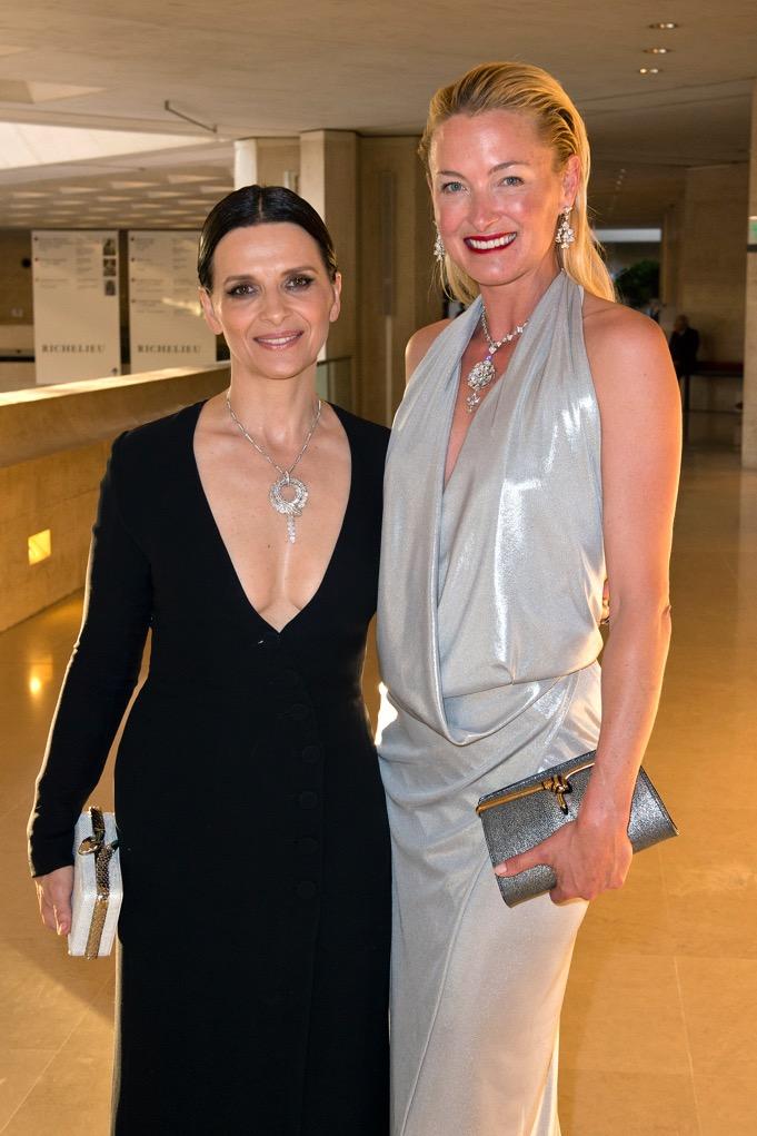 Juliette Binoche and Princesse SAS Lilly Zu Sayn Wittgenstein Berleburg