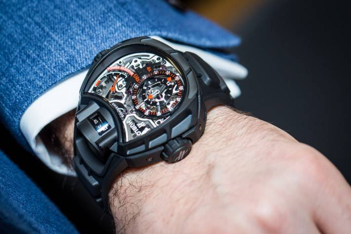 Replica Hublot MP-12 Key Of Time Skeleton All Black;