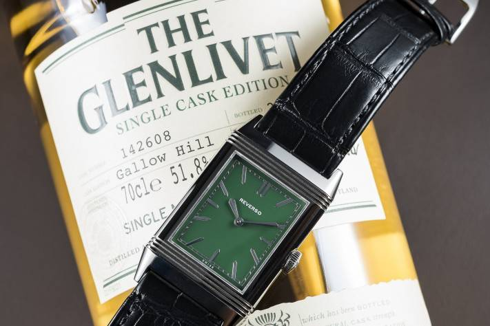 Jaeger-LeCoultre Grande Reverso Ultra-Thin Special London Flagship edition and Glenlivet whisky