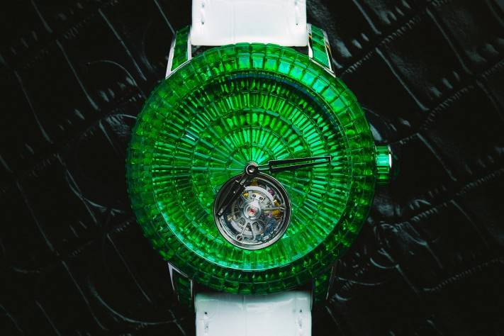 Jacob & Co. Caviar Emerald Tourbillon Green Watch 2015