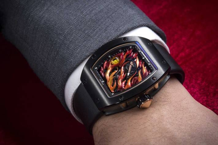 FEATURE Richard Mille Evil Eye RM 26-02 Tourbillon Watch Watches And Wonders 2015 Wrist