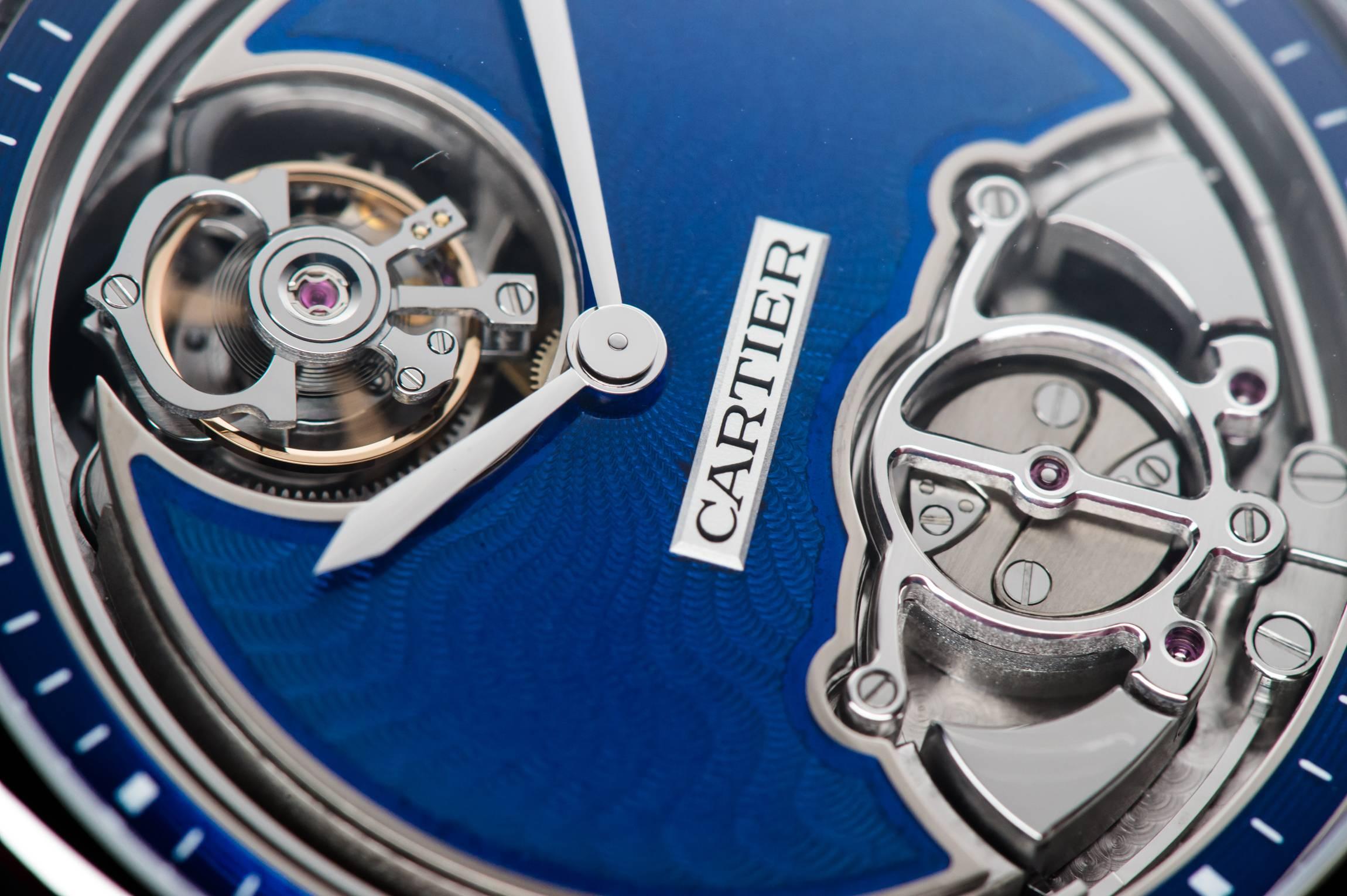 "Cartier Rotonde de Cartier Minute Repeater Flying Tourbillon Calibre 9402 MC ""Poinçon de genève"" certified watch close up"