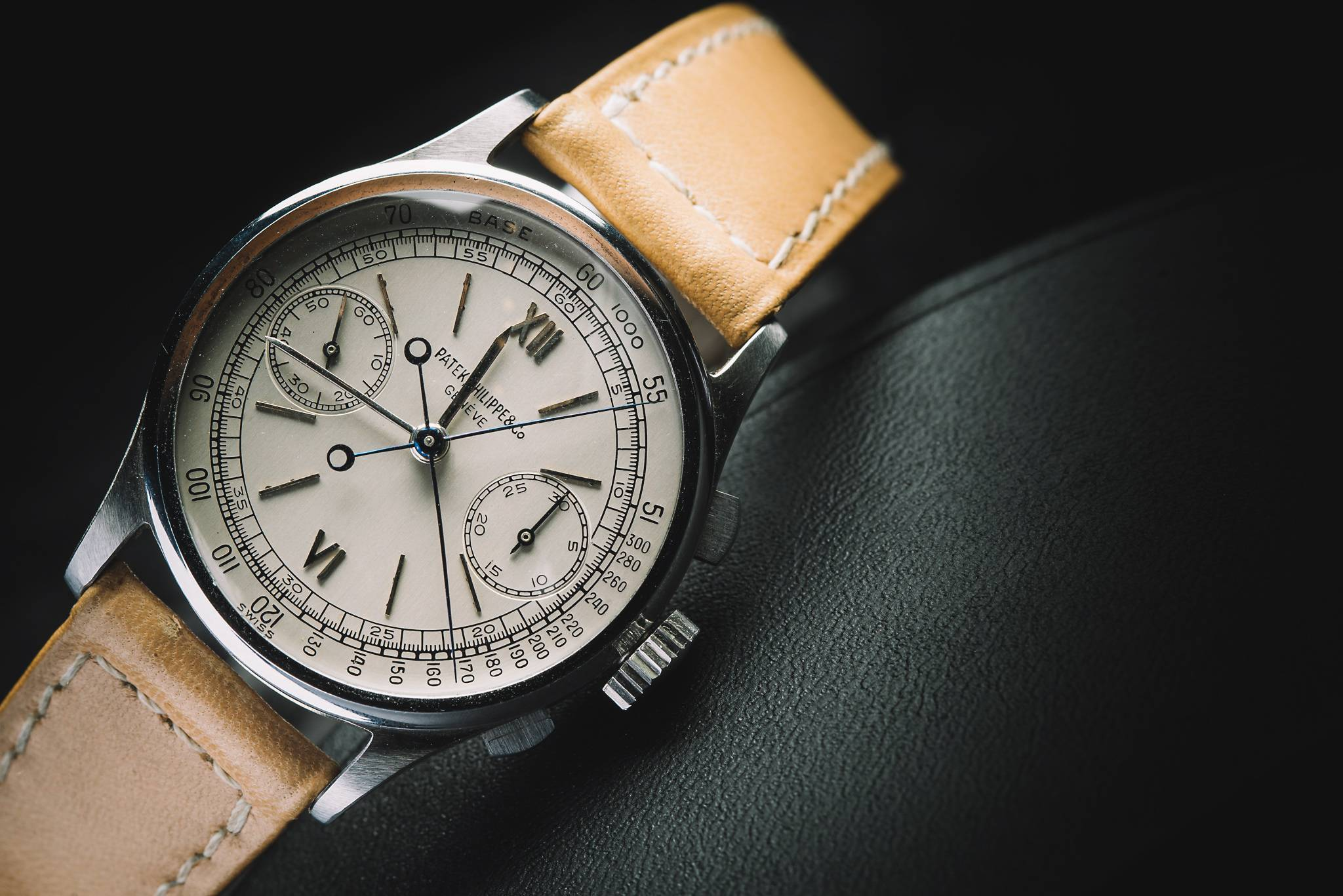 PATEK PHILIPPE 'Steel Split-Seconds', Reference 1436, Stainless Steel, 1945 Front