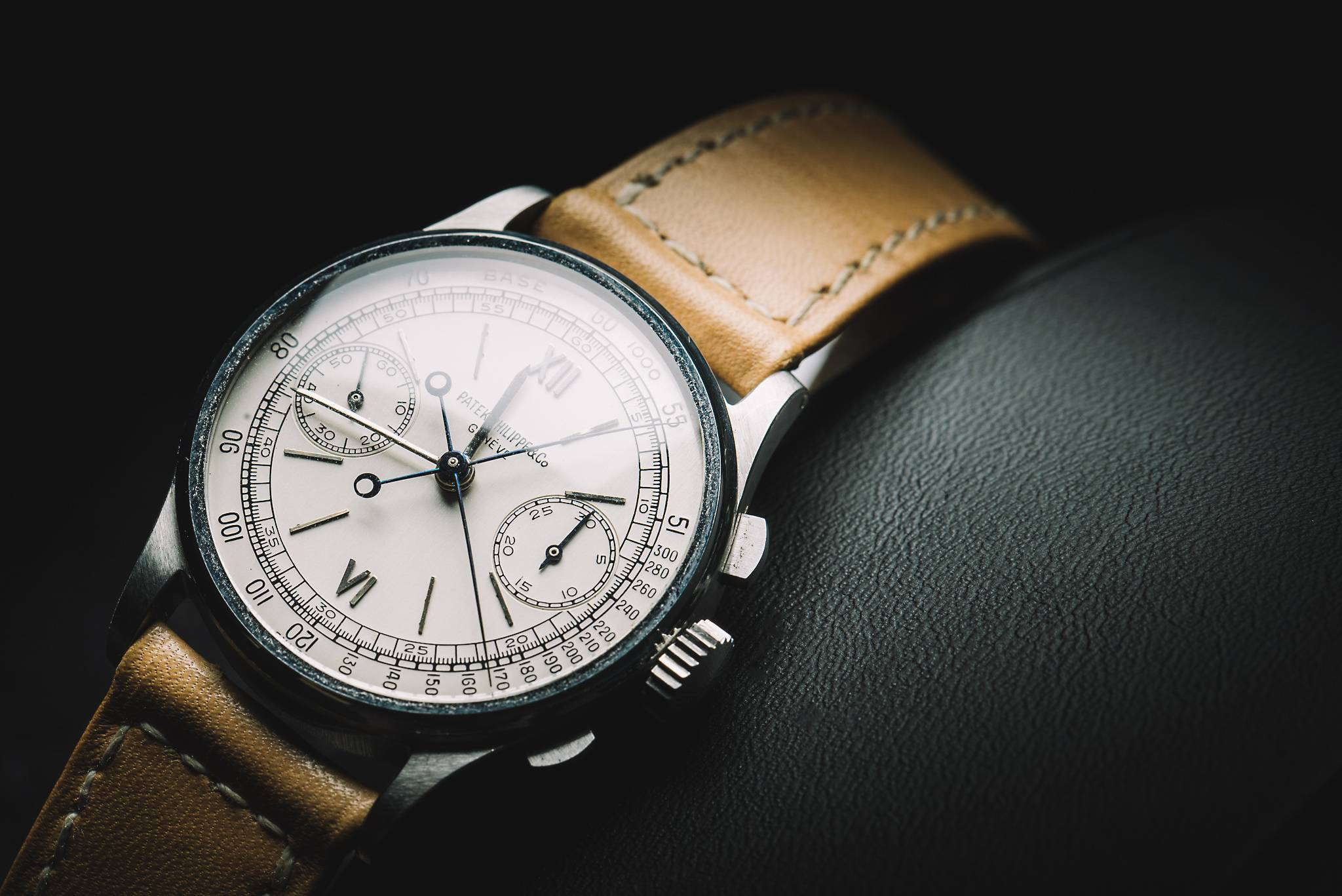 PATEK PHILIPPE 'Steel Split-Seconds', Reference 1436, Stainless Steel, 1945 feature