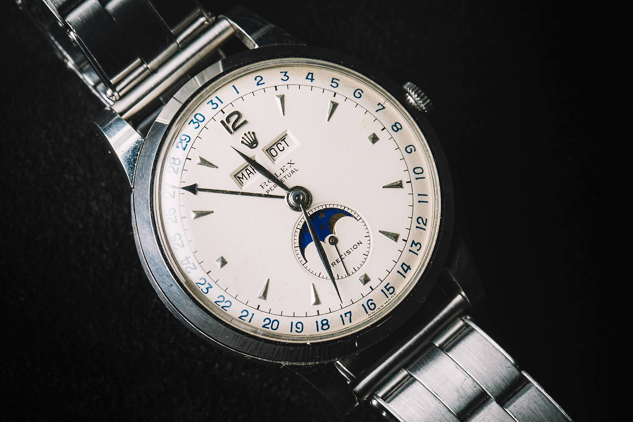"""Rolex """"Padellone"""", 8171, Stainless steel, 1950 Side"""