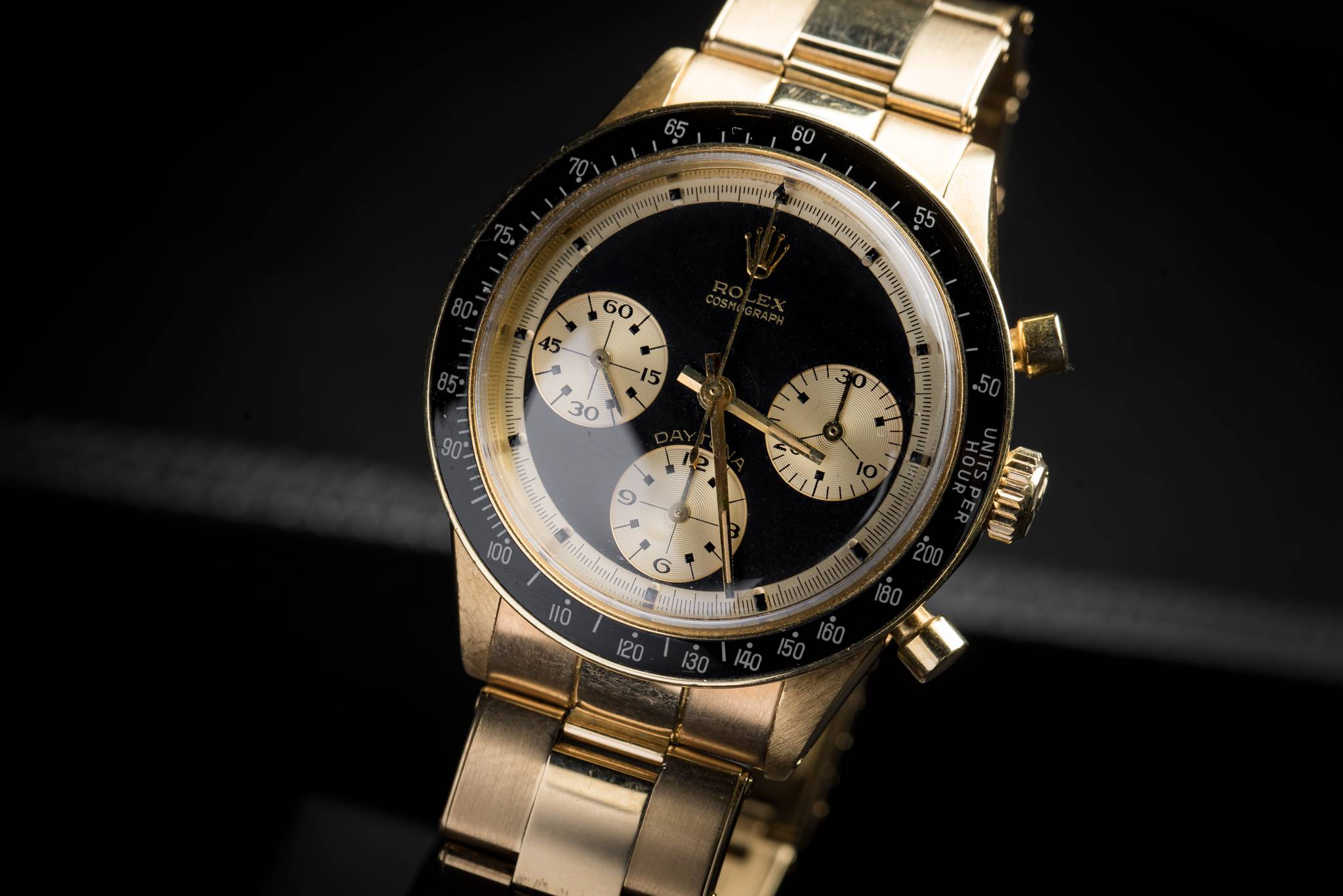 Rolex 'The Hermès Paul Newman', Reference 6241, Yellow Gold, 1968 Close Up