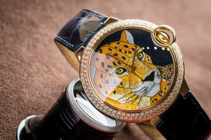 Ballon Bleu de Cartier enamel granulation watch 2016