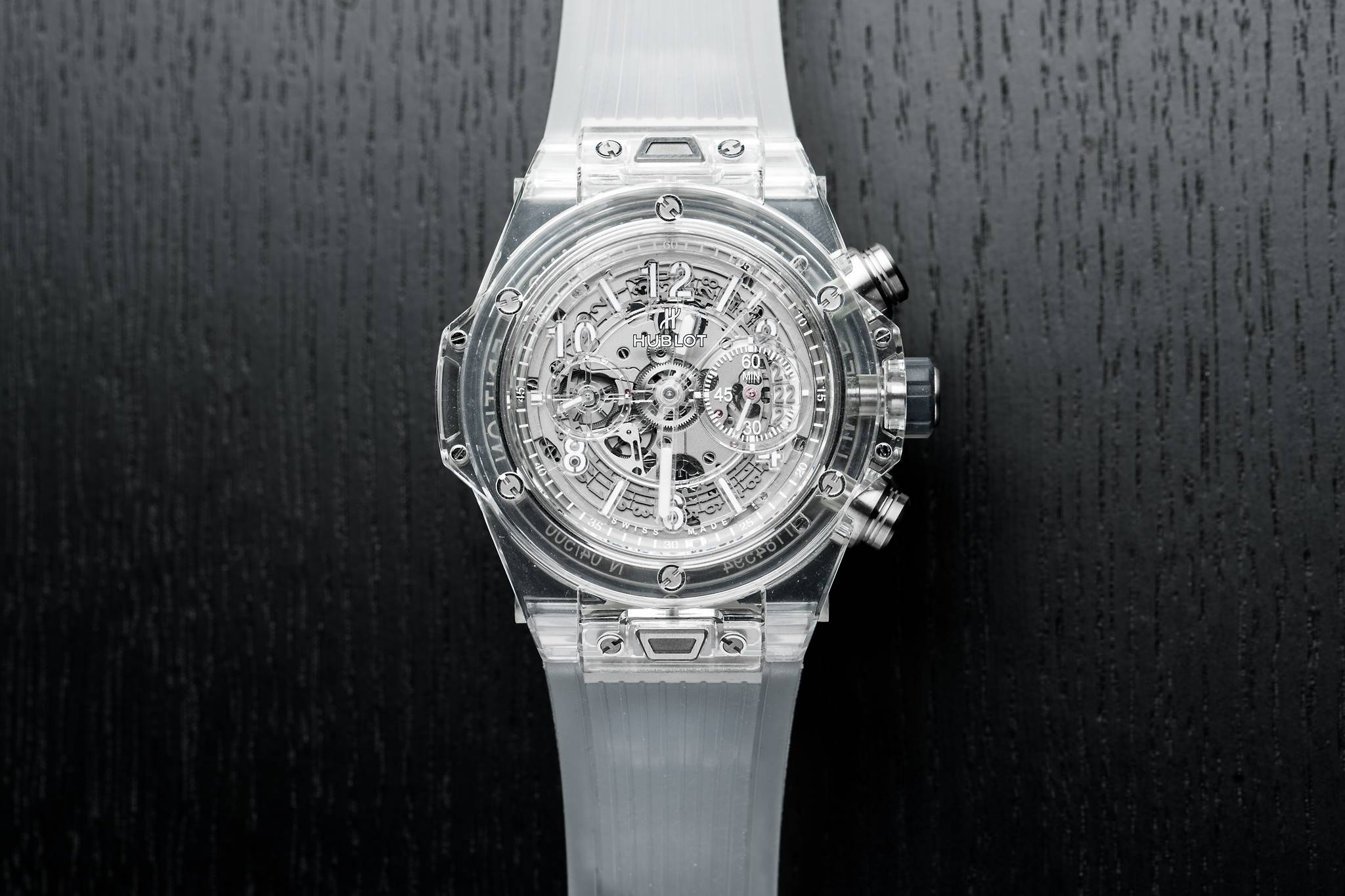 total transparency  5 watches with sapphire cases