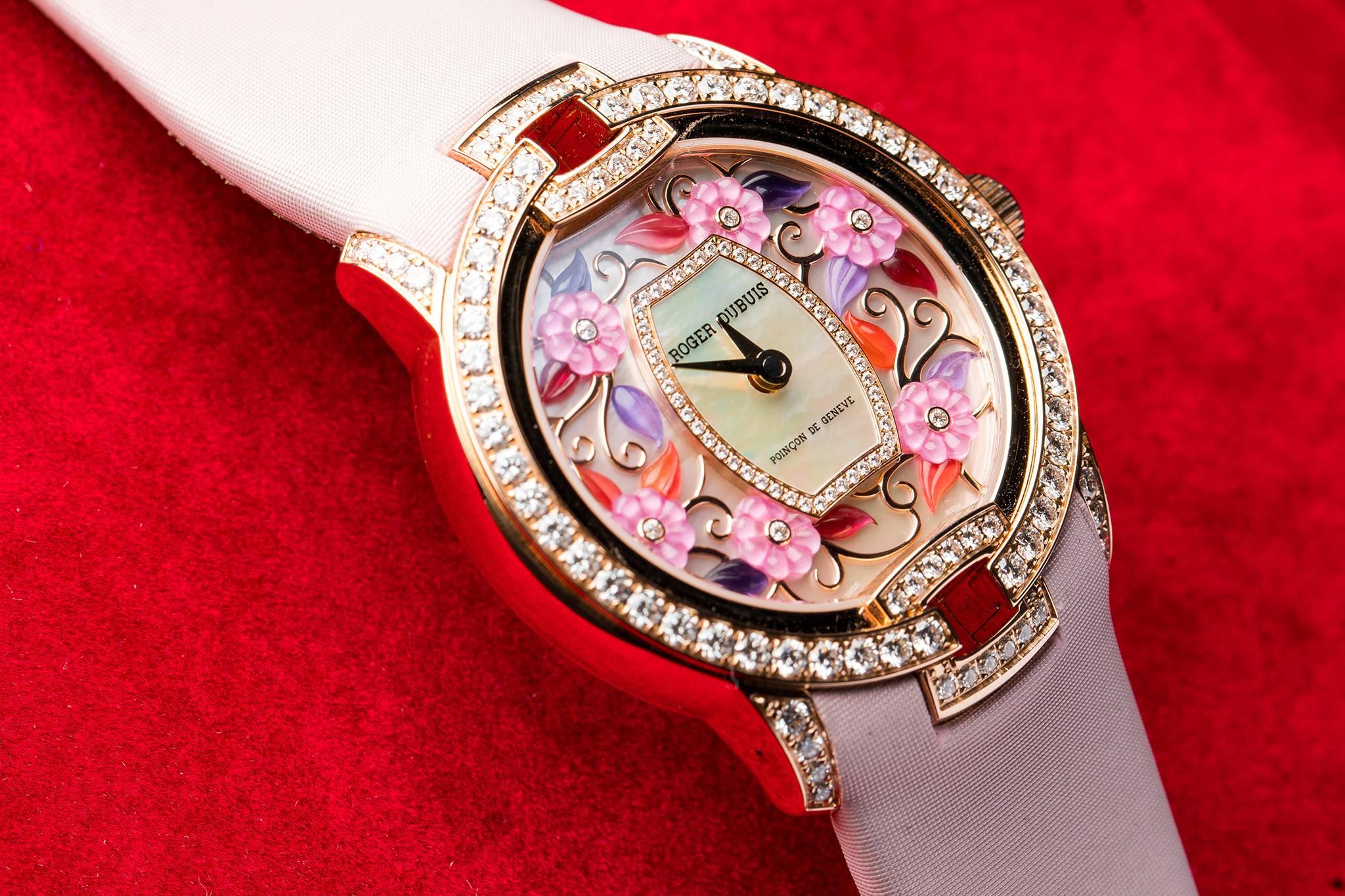 Roger Dubuis Blossom Velvet Pink Watch 2016
