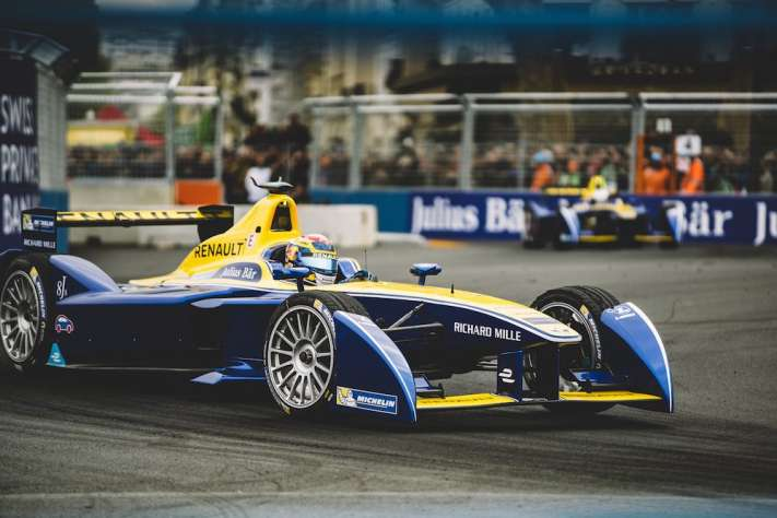 Richard Mille And e.dams-Renault Compete In The First Formula E Grand Prix In Paris