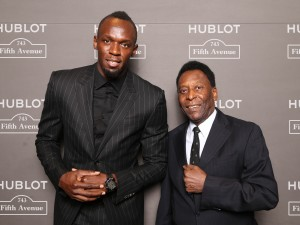 Hublot Scales Skyscrapers, Raps with Wyclef Jean and Celebrates New York Boutique Opening with Usain Bolt, Pele and Peter Marino