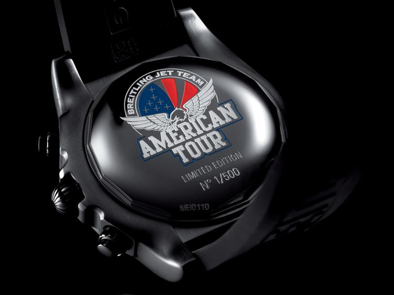 Chronomat 44 Breitling Jet Team American Tour caseback