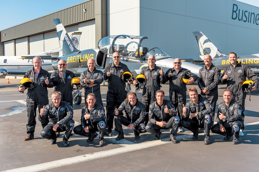 The members of the Breitling Jet Team are all seasoned pilots, most of whom have flown or worked in the armed forces.