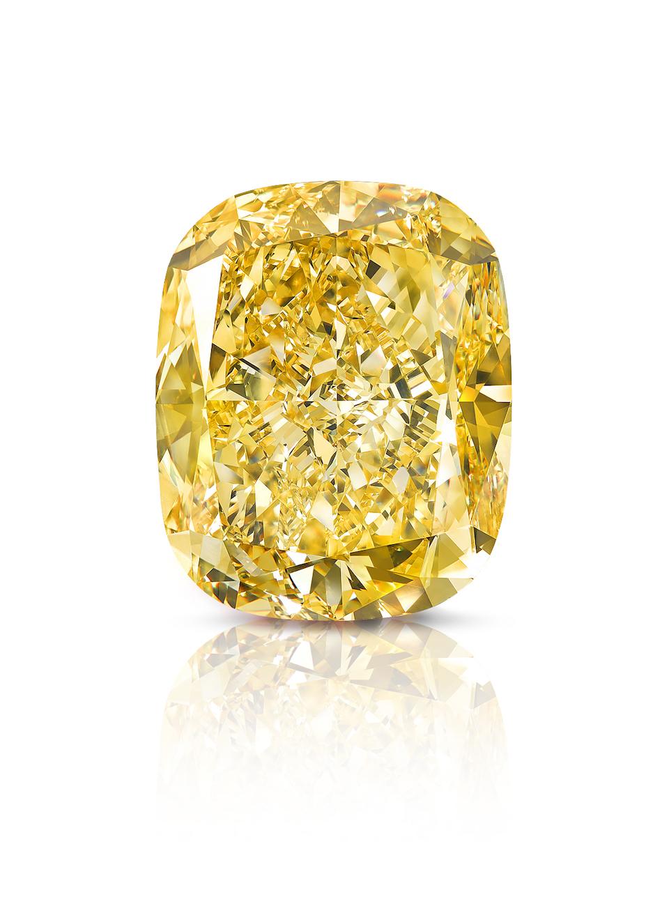 Graff Golden Empress 132.55 carat Fancy Intense Yellow diamond