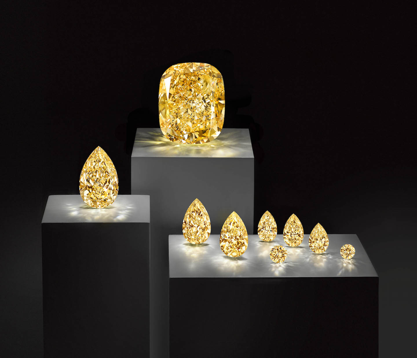 In addition to the Golden  Empress, the rough diamond yielded 8 additional stones.