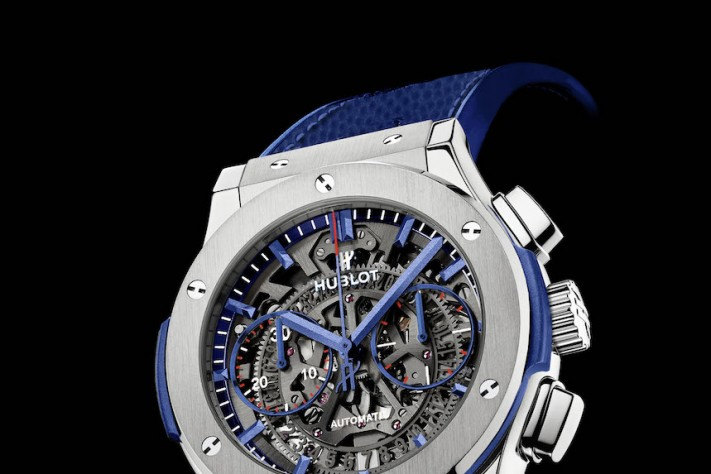 Hublot, the New York Giants and Victor Cruz Unveil Partnership and New Classic Fusion Aerofusion Limited New York Edition Chronograph