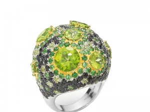 Four Jewelry Designs that Embrace the Pantone Color of the Year, Greenery