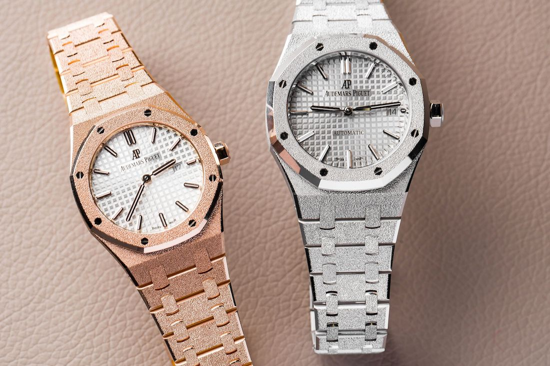 Audemars Piguet Royal Oak Ladies 40th Anniversary Frosted Gold