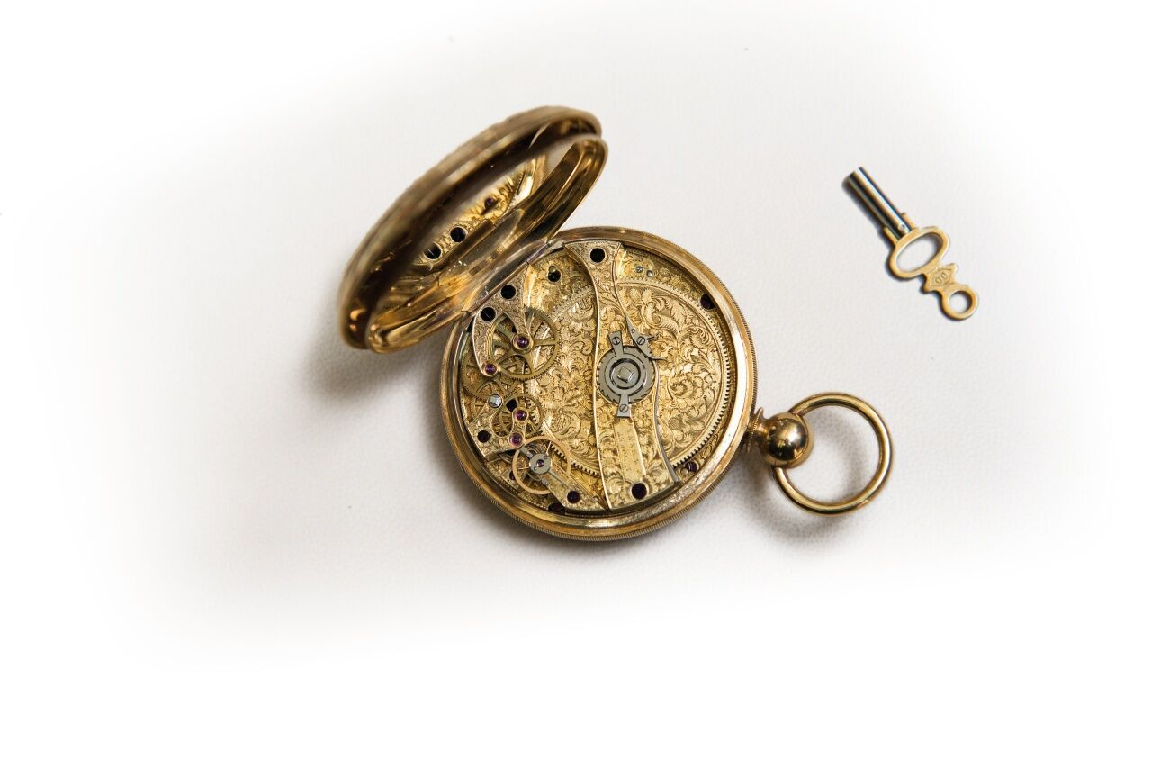 1920's Bovet pocket watch with 370 day power reserve