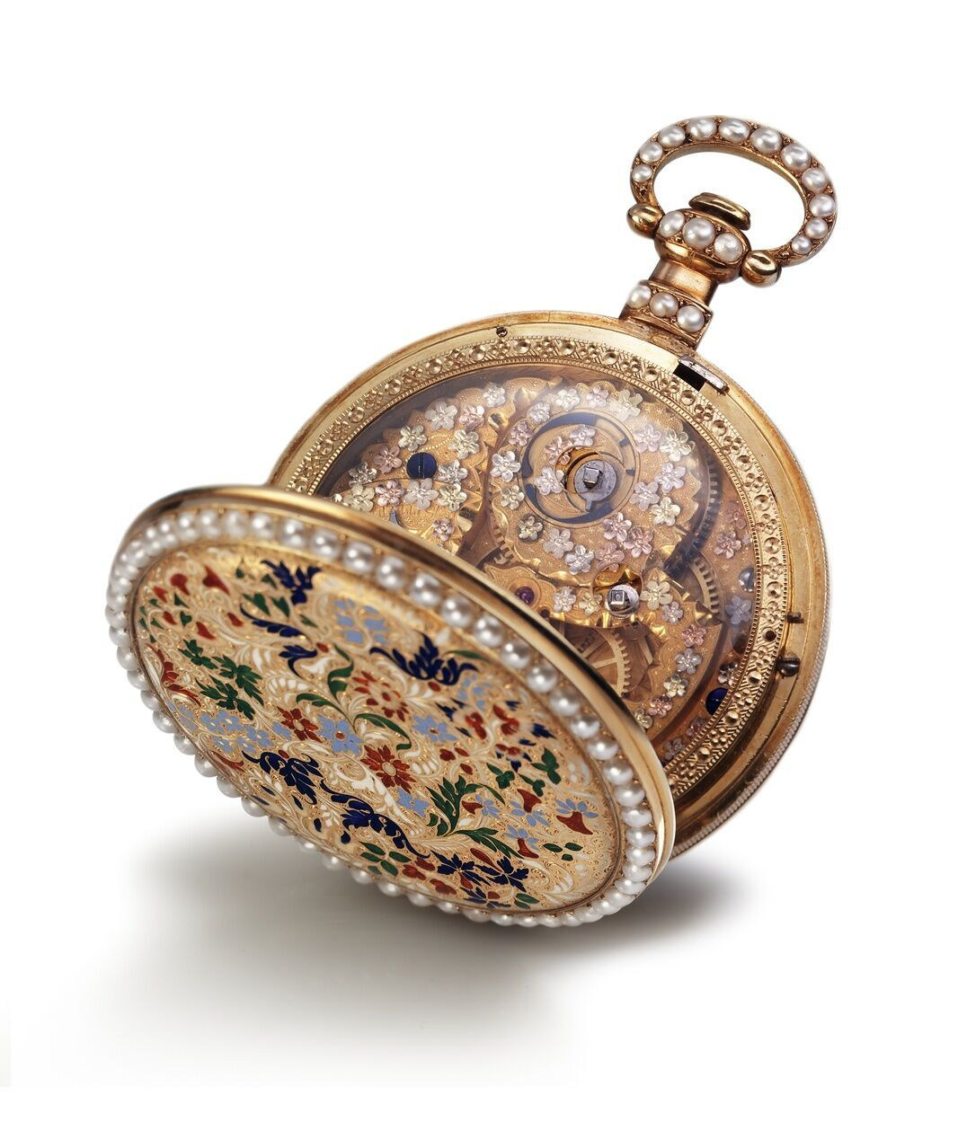 Early Bovet pockect watch with glass back