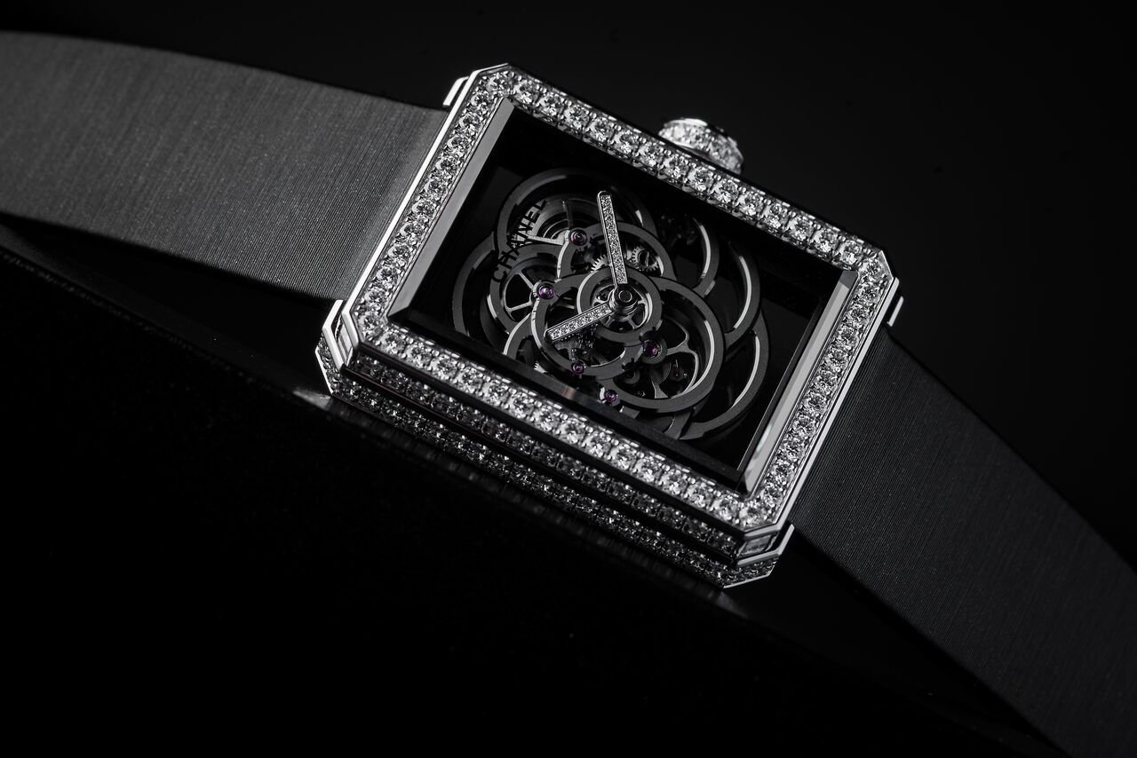 Chanel Premier Camelia Skeleton Watch