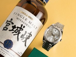 Watches & Whisky: Nikka Miyagikyo 10 + Rolex DateJust 41
