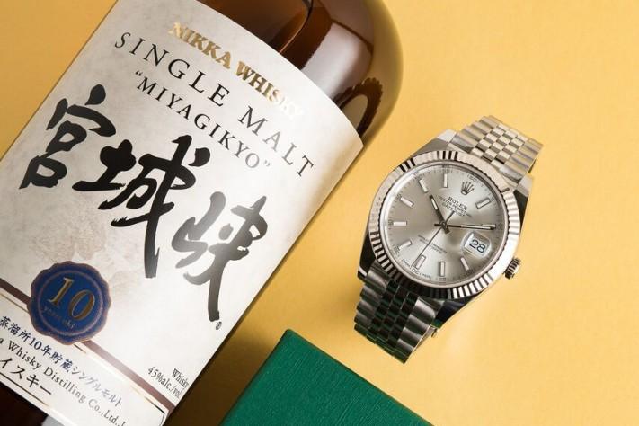 Watches & Whisky: Nikka Miyagikyo 10 + Rolex DateJust 41