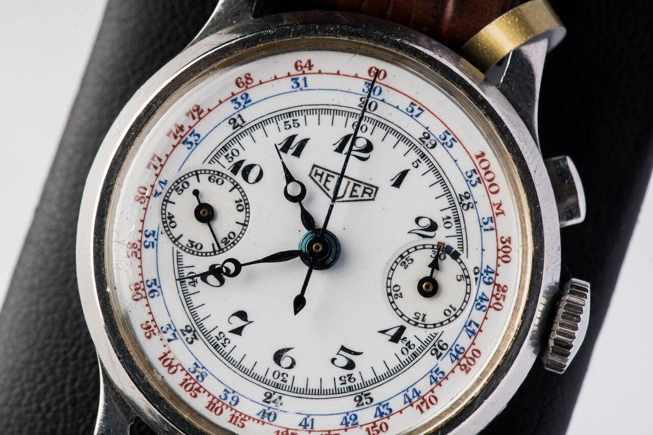 1930 Heuer Single Button Chronograph