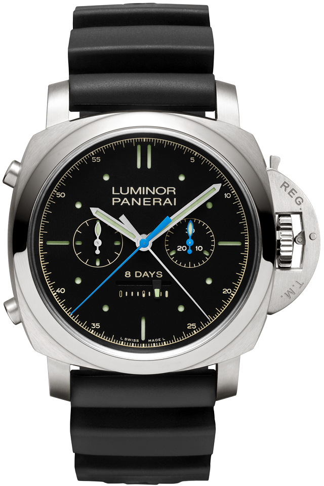 Panerai Luminor 1950 Rattrapante 8 Days Chronograph 47mm Titanium And Rubber Watch.png
