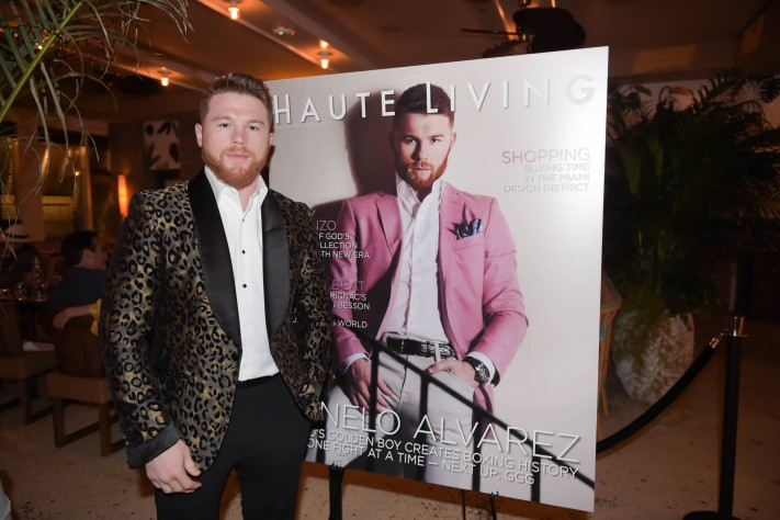 Inside Haute Living's Cover Party With Canelo Alvarez At Marion With Franck Muller
