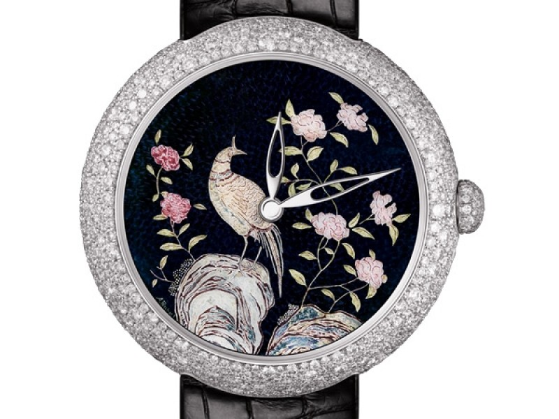 Chanel Mademoiselle Coromandel with enamel dial made by Anita Porchet