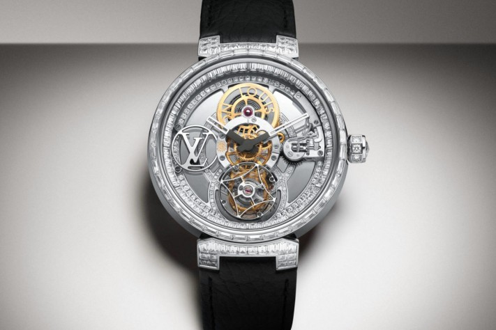 Louis Vuitton Presents Tambur Moon, The First Diamond-Encrusted Poinçon de Genève Pavée Watch