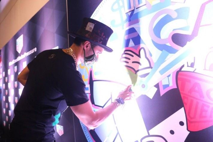 TAG Heuer And Alec Monopoly Kick Off Art Basel Miami