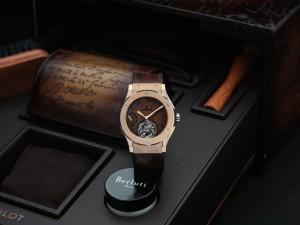 Hublot And Berluti Present Two Classic Fusion Tourbillon Timepieces