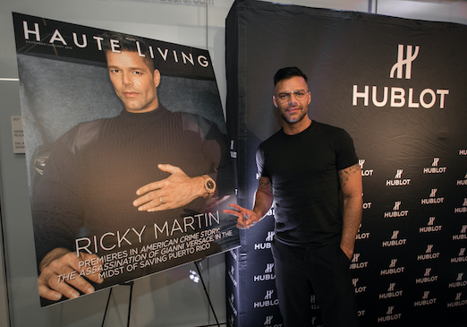 Ricky Martin celebrating his Haute Living cover / Photo Credit: Getty Images for Haute Living