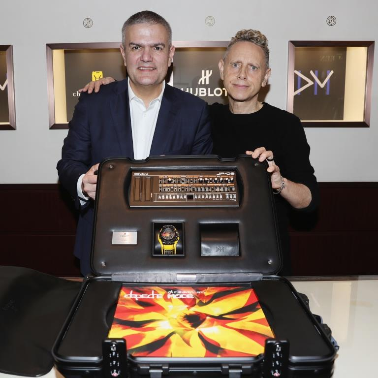 Ricardo Guadalupe and Martin Gore present the Big Bang Depeche Mode The Singles Limited Edition Set