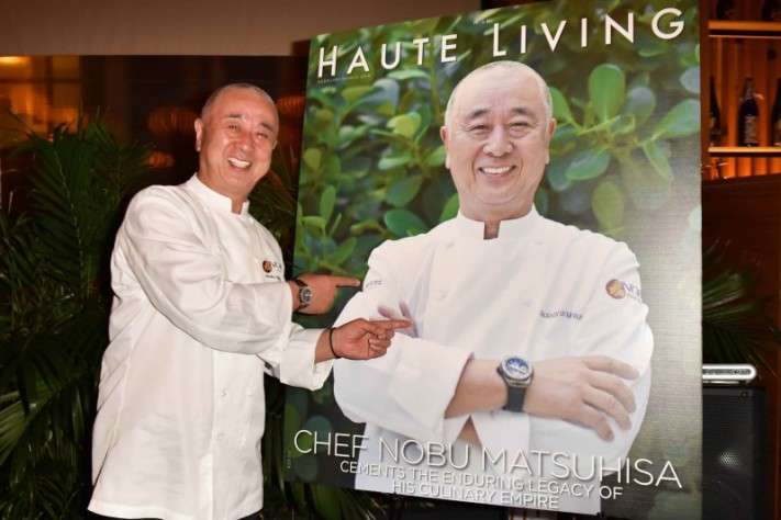 Inside Haute Living And Hublot's Exclusive Dinner Honoring Nobu Matsuhisa During SOBEWFF