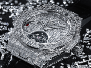 Hublot Launches Million-Dollar Diamond-Encrusted Big Bang With Super High-End Croc Leather Jacket