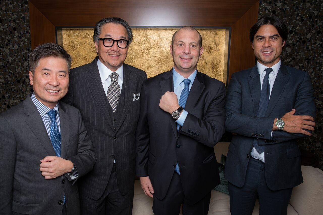 WatchBox founders/investors Samuel Lee, Tay Liam Wee, Danny Govberg and Justin Reis in Geneva