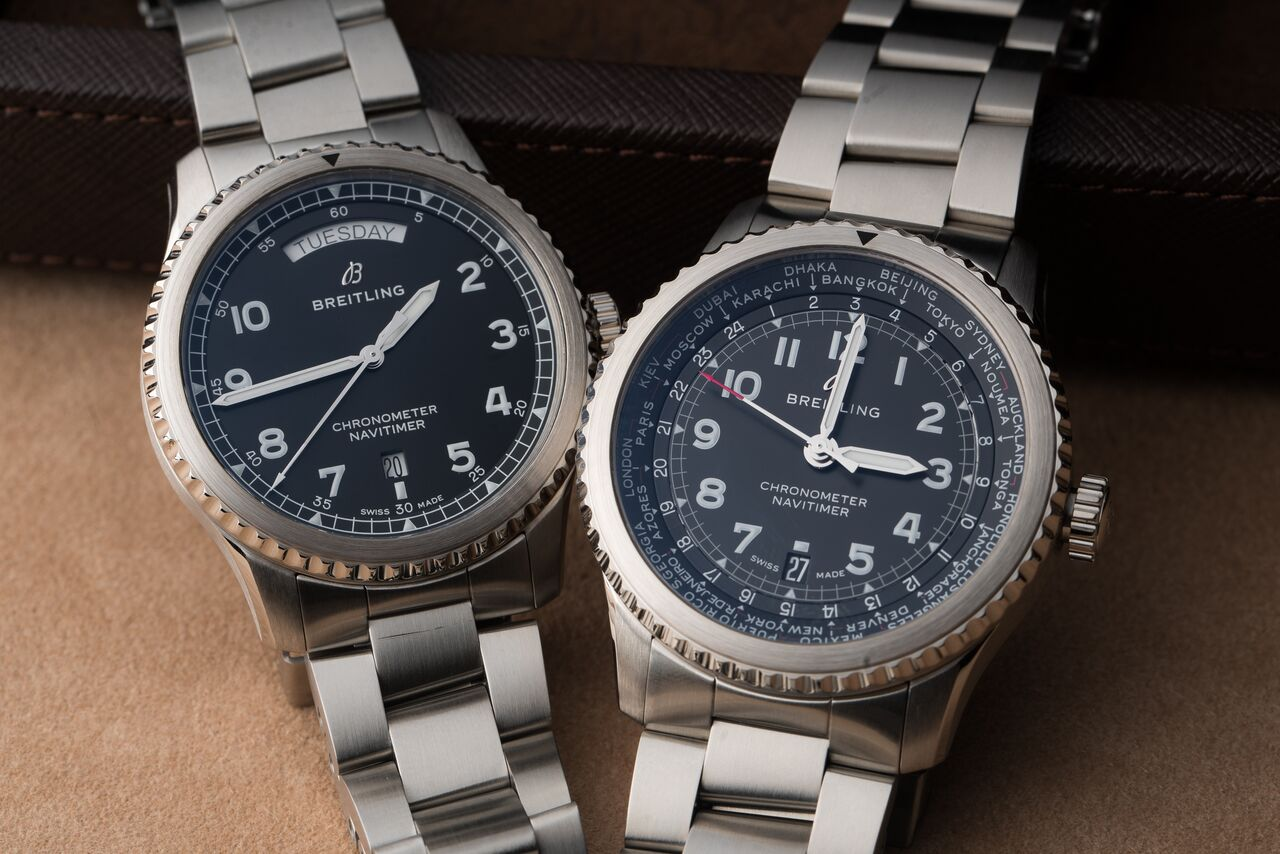 Breitling Navitimer day date and world time