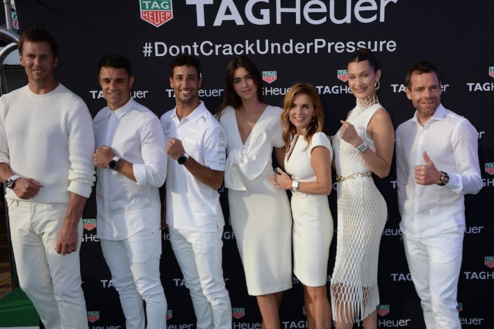 TAG Heuer's White Party On Seadream Yacht During Monaco Grand Prix With Tom Brady, Bella Hadid & Daniel Ricciardo