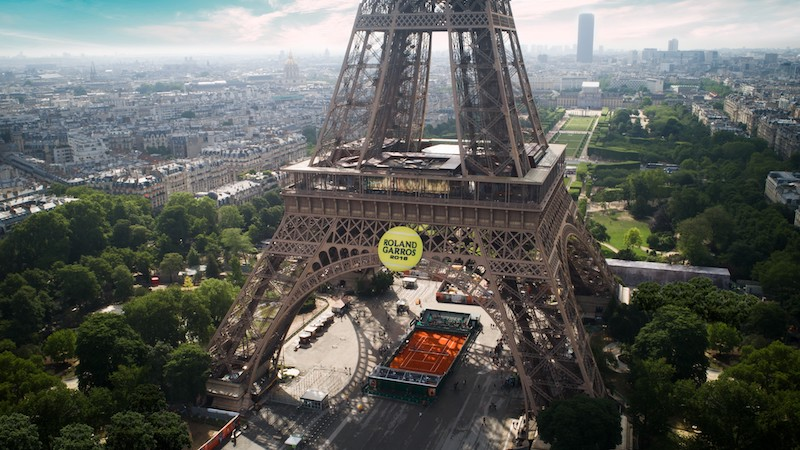 Eiffel tower Roland Garros
