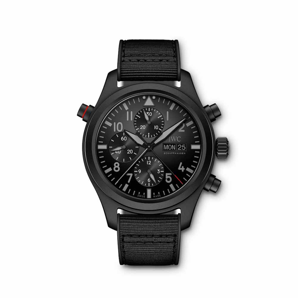 IWC's New Pilot's Watch Double Chronograph TOP GUN Ceratanium