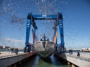Pershing Launches First Aluminum Superyacht Pershing 140 at Ancona's Superyacht Yard