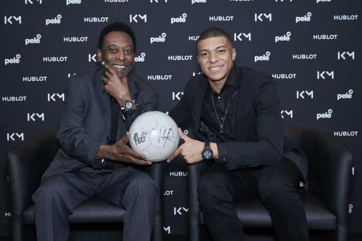 Hublot Brand Ambassdors Pelé & Kylian Mbappé Meet For The First Time In A Legendary Moment For Soccer